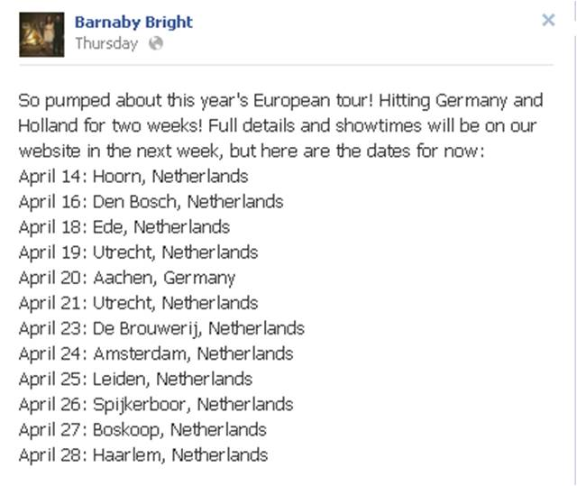 BB FB European Tour