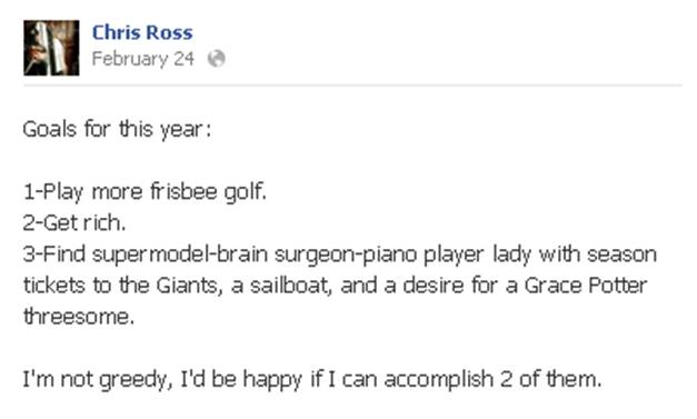 Chris Ross FB 2013 Goals