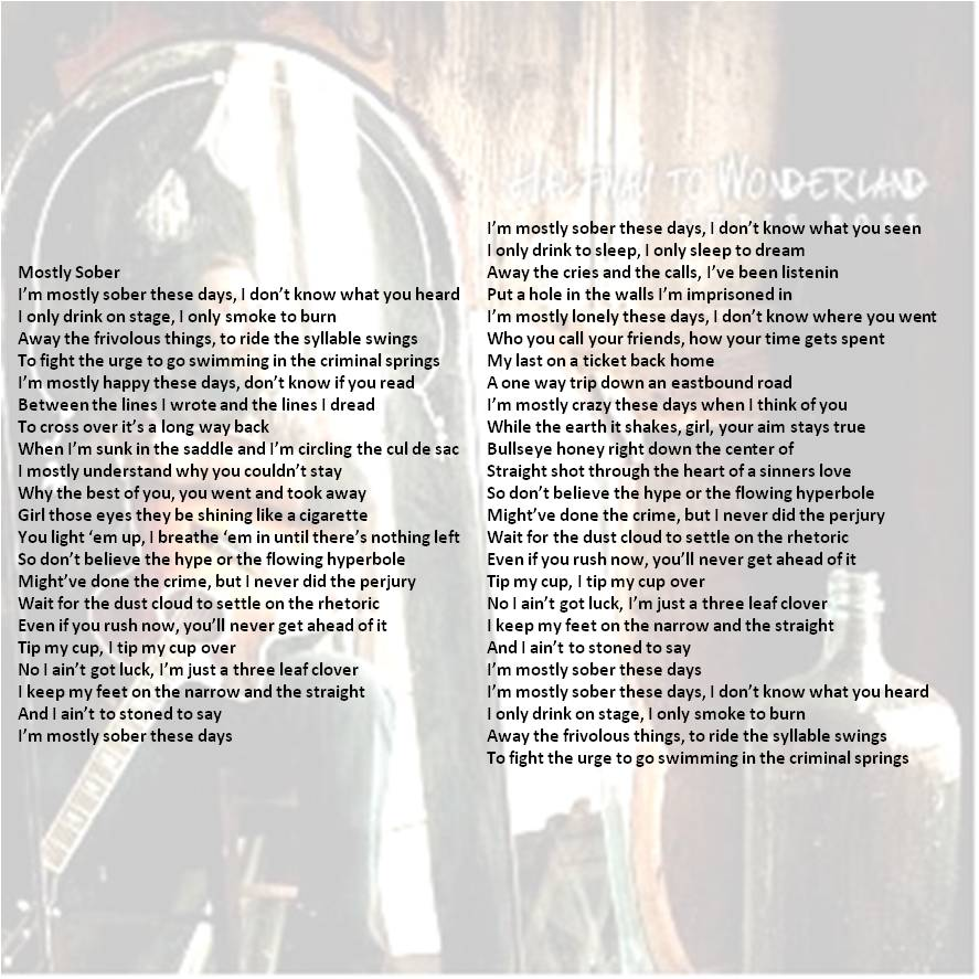 Chris Ross Mostly Sober lyrics