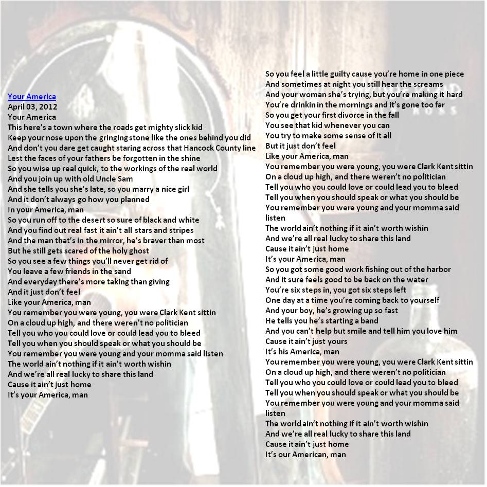 Chris Ross Your America lyrics