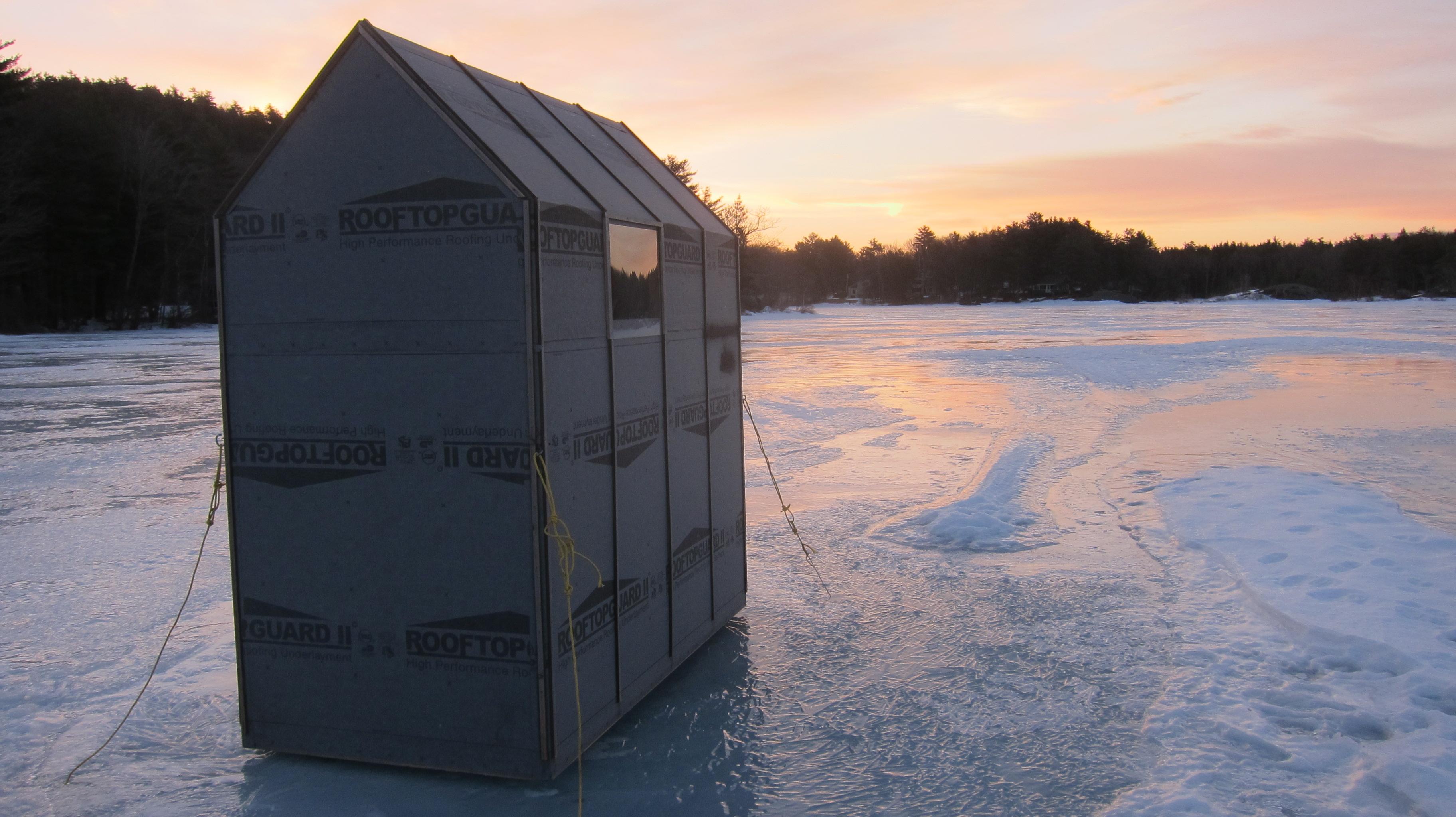 Ice fishing houses - photo#38