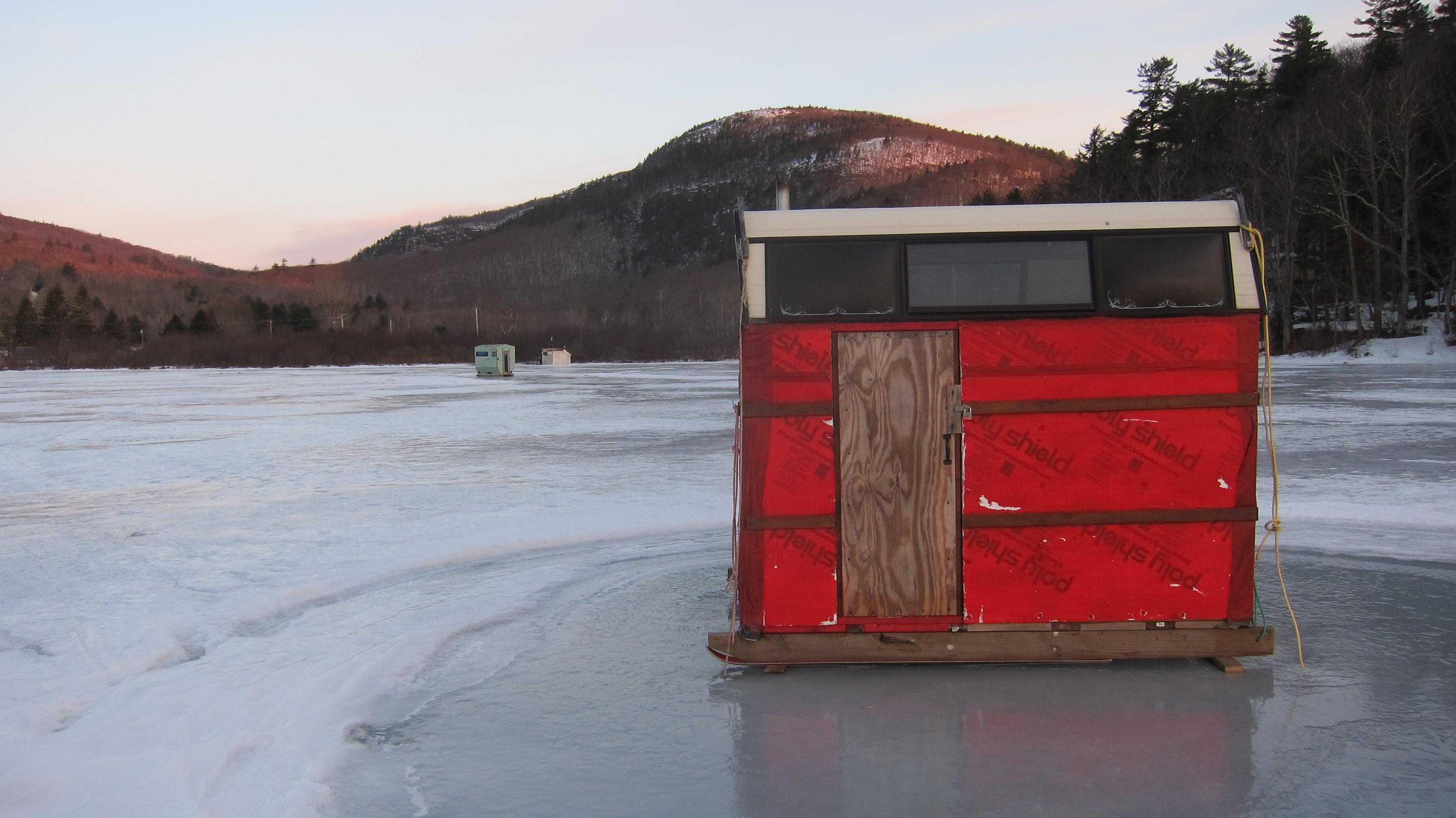 Ice fishing houses - photo#31