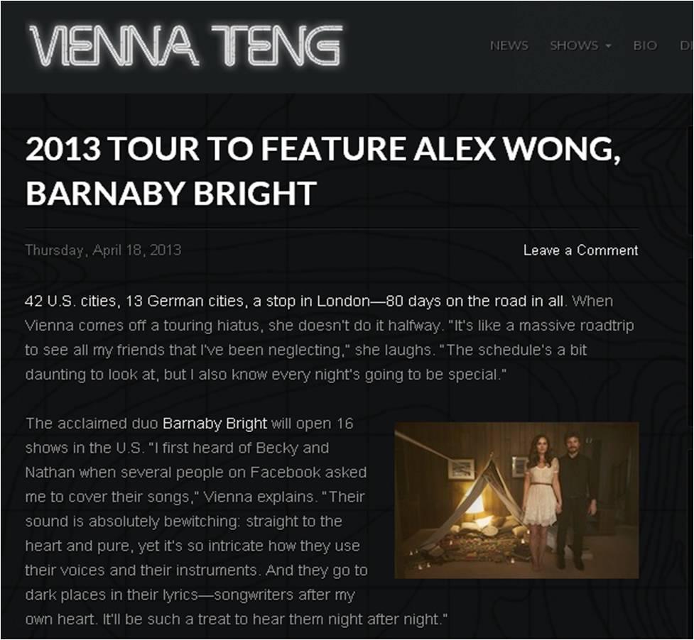 BB - Vienna Teng