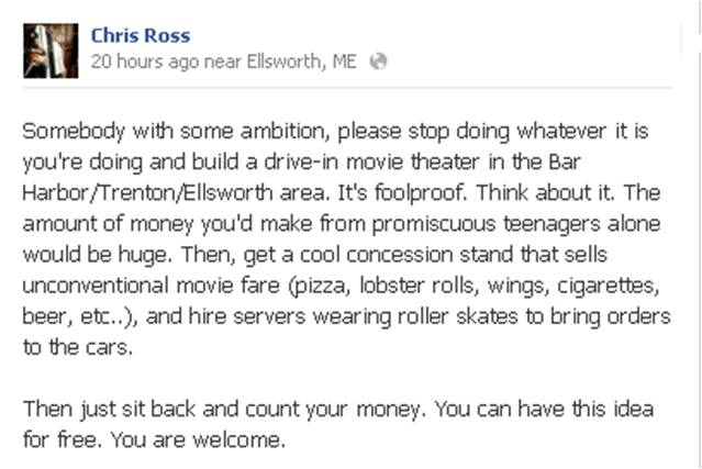 Chris Ross FB Drive In