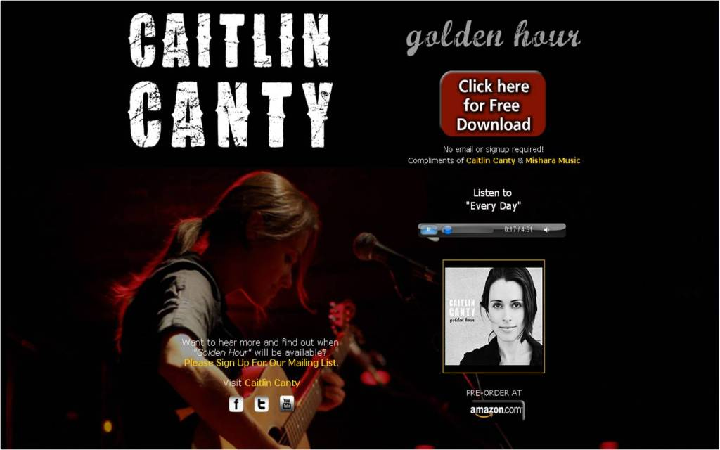 Caitlin Free Song page
