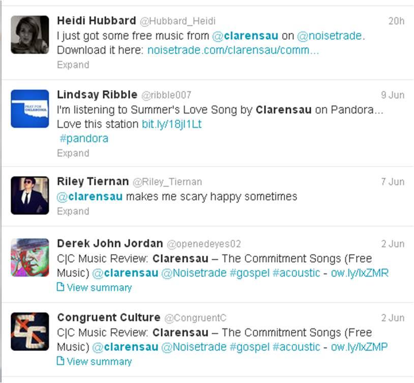 Clarensau Twitter 06-11-2013
