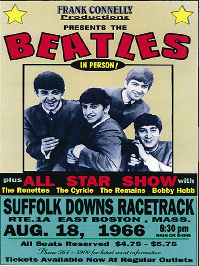 Beatles Poster August 18th, 1966