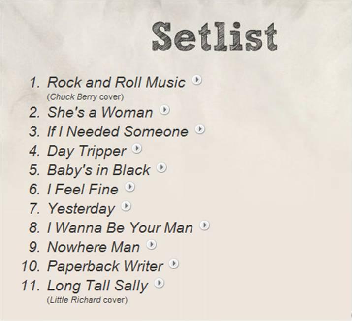 Set List 08-18-1966
