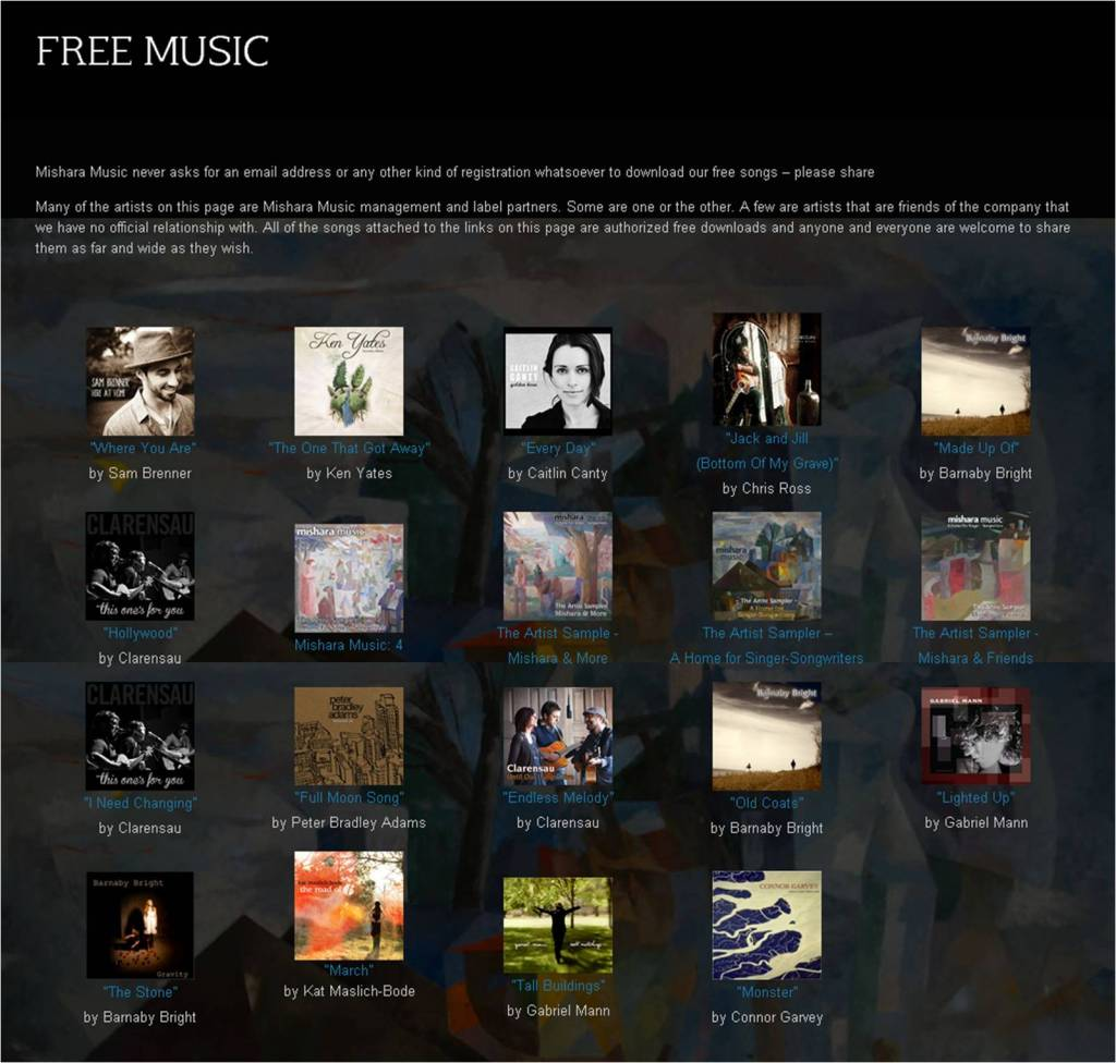Mishara Music Free Song Page August 2013