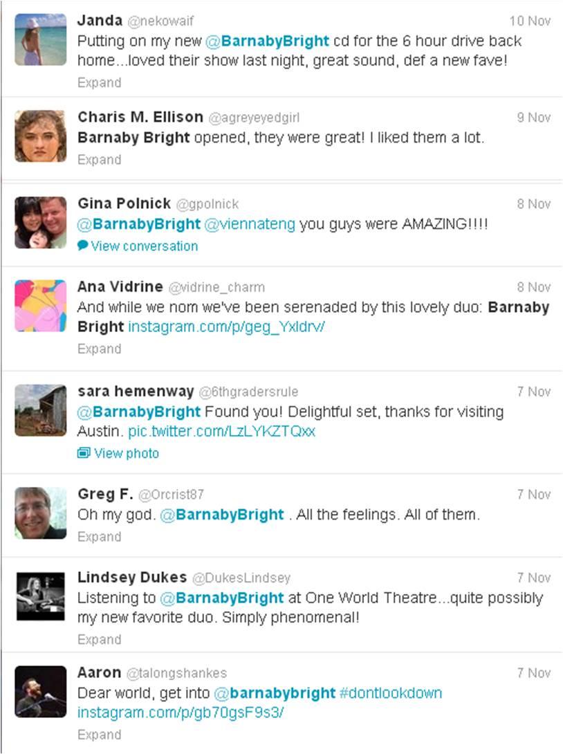 Barnaby Bright Twitter 11-11-2013