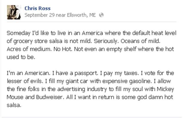 Chris Ross FB Salsa