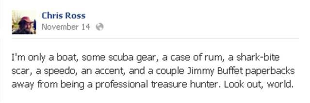 Chris Ross FB Treasure Hunter