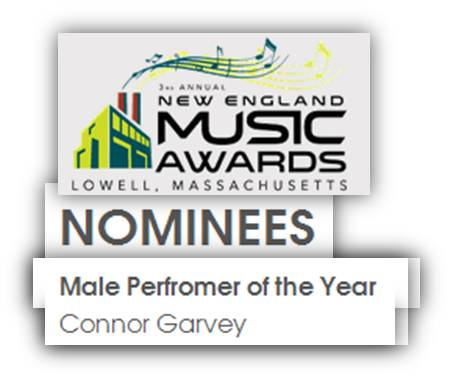 Connor Garvey New England Music Awards Nominee 2014 - 2
