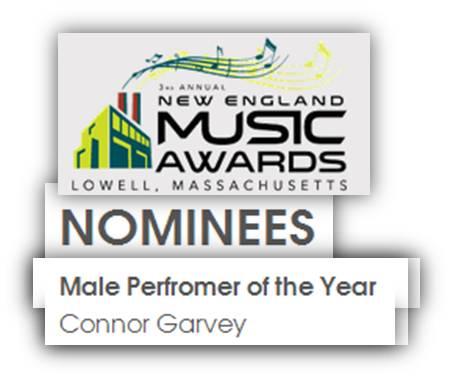 Connor Garvey New England Music Awards Nominee 2014 - 2