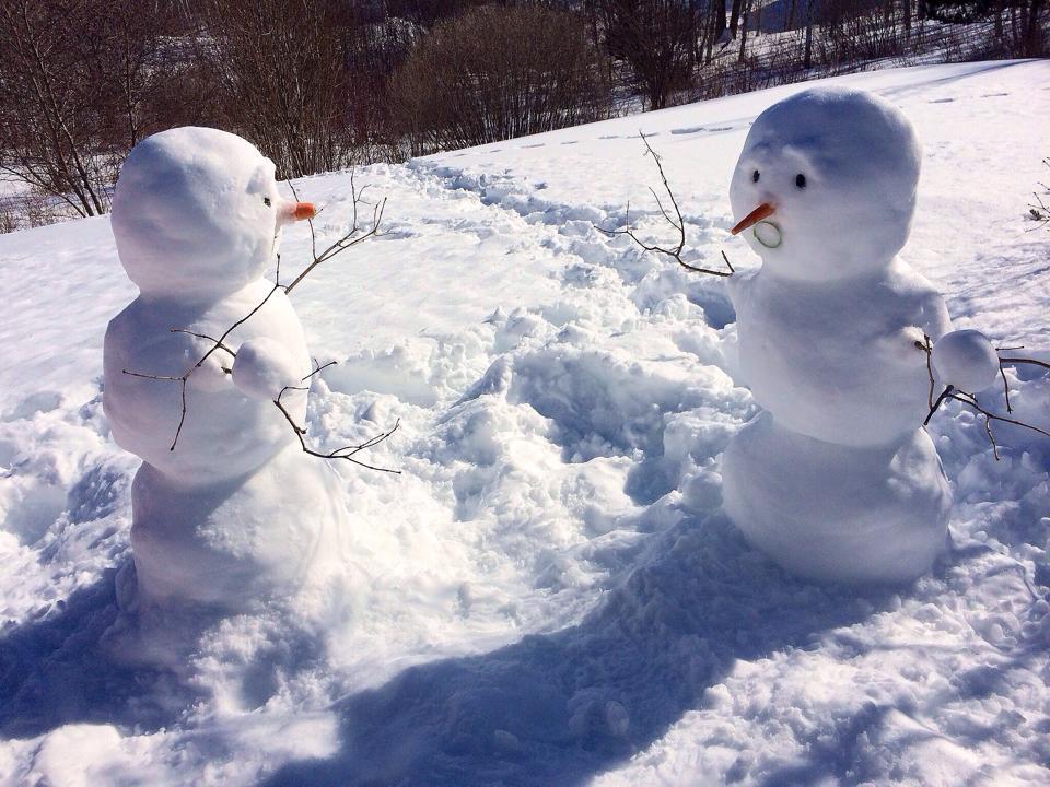 Snowman fight 02-21-2014