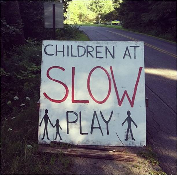 Children At Slow Play - Letter Size