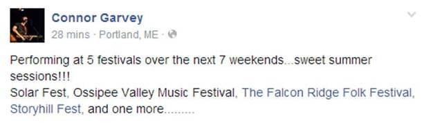 Connor Garvey Summer Festivals 2014 - Letter Size