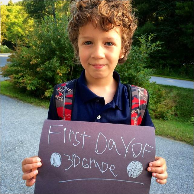 First Day of Third Grade - Letter Size