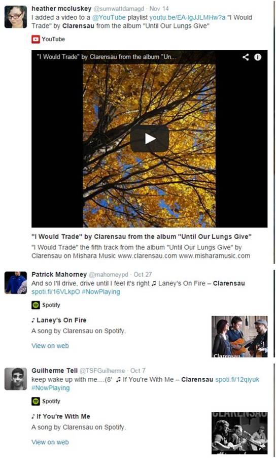 Clarensau - Social Media - Spotify - Letter Size
