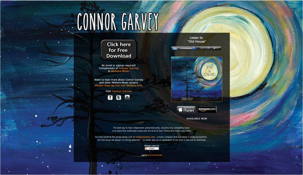 Connor Garvey Free Song Old House - Letter Size