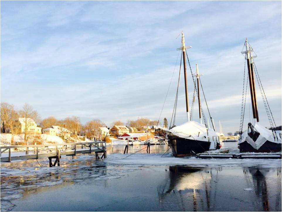 Camden Harbor Winter 2014 - Letter Size