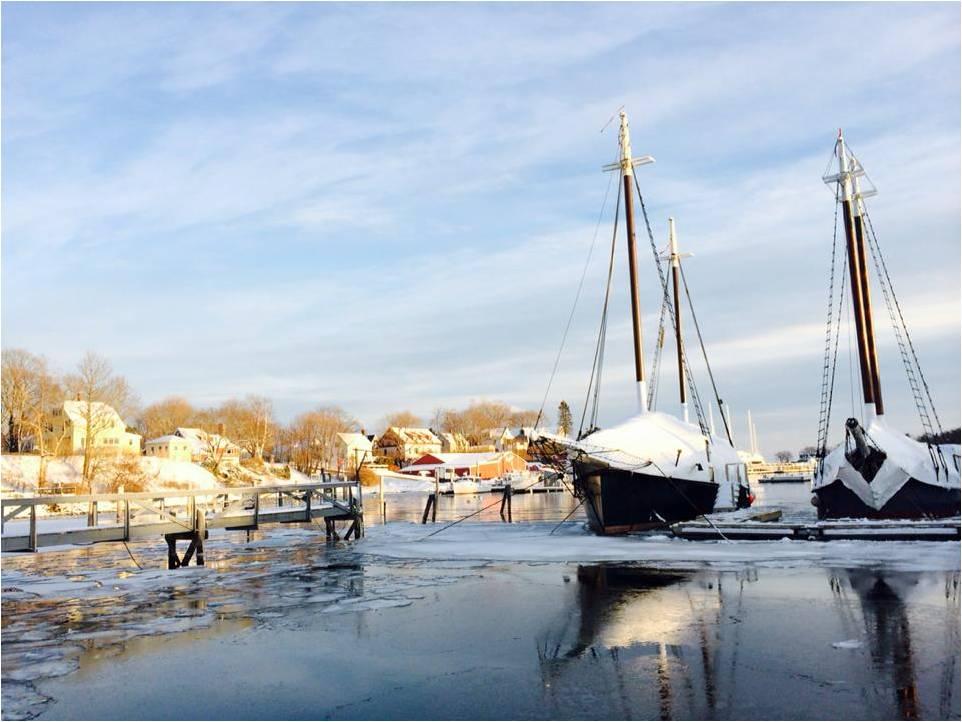 Camden Harbor Winter 2014 - Letter Size