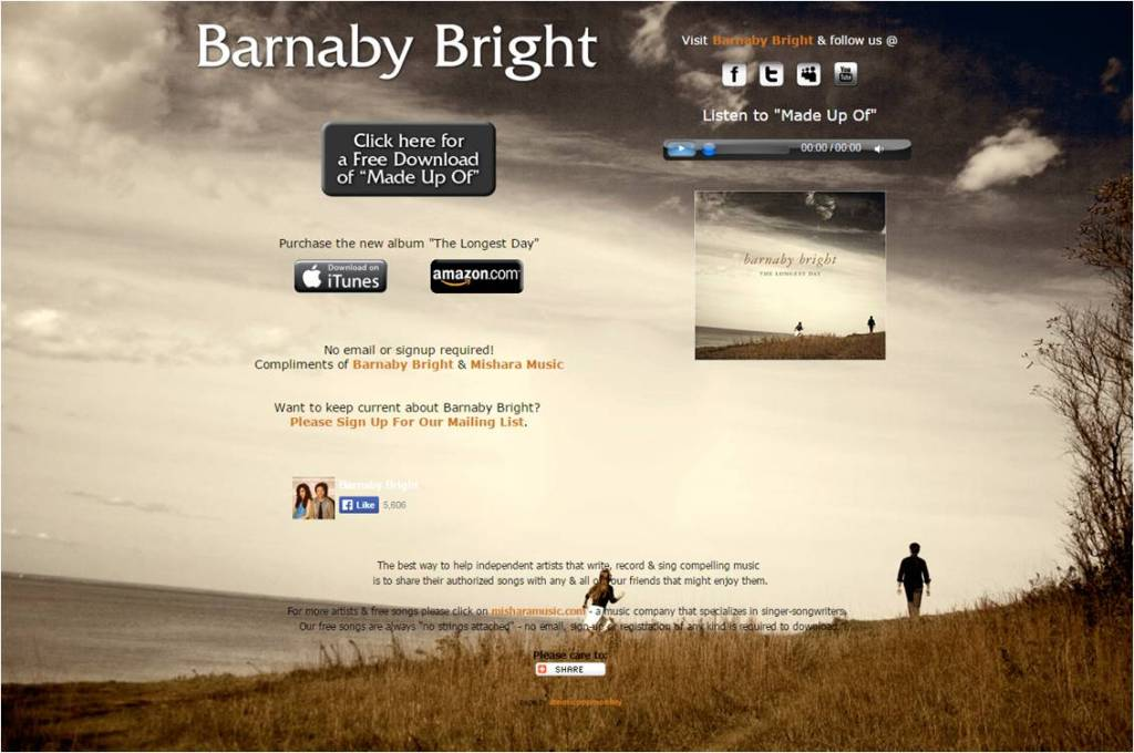 Free Song Made Up Of Barnaby Bright - Letter Size