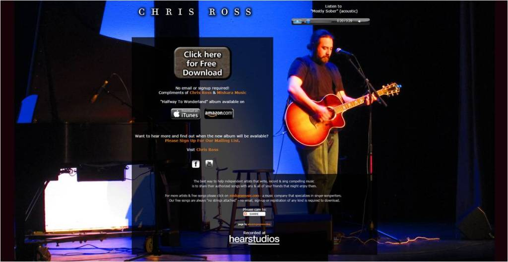 Free Song Mostly Sober Chris Ross - Letter Size
