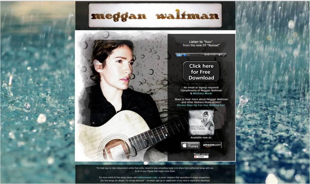 Free Song Rain Meggan Waltman - Letter Size (2)