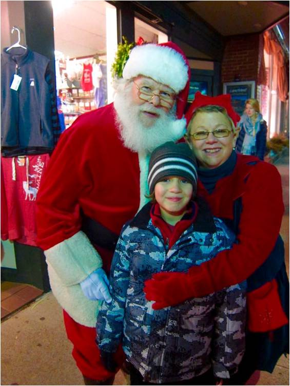 Santa on the street 2014 - Letter Size