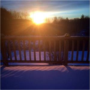 Sunrise Instead Of Snowstorm 2015 - Letter Size