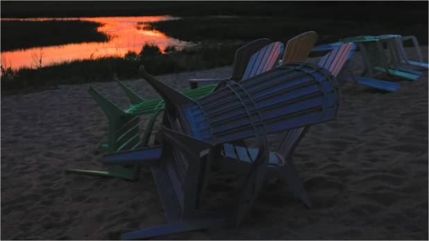Chairs 2 at Sunset