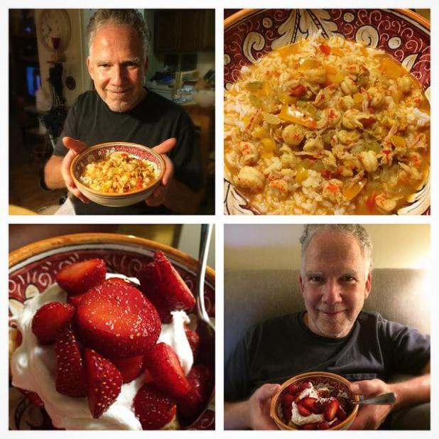 Father's Day Crawfish Etouffee Strawberry Shortcake 06-21-2015