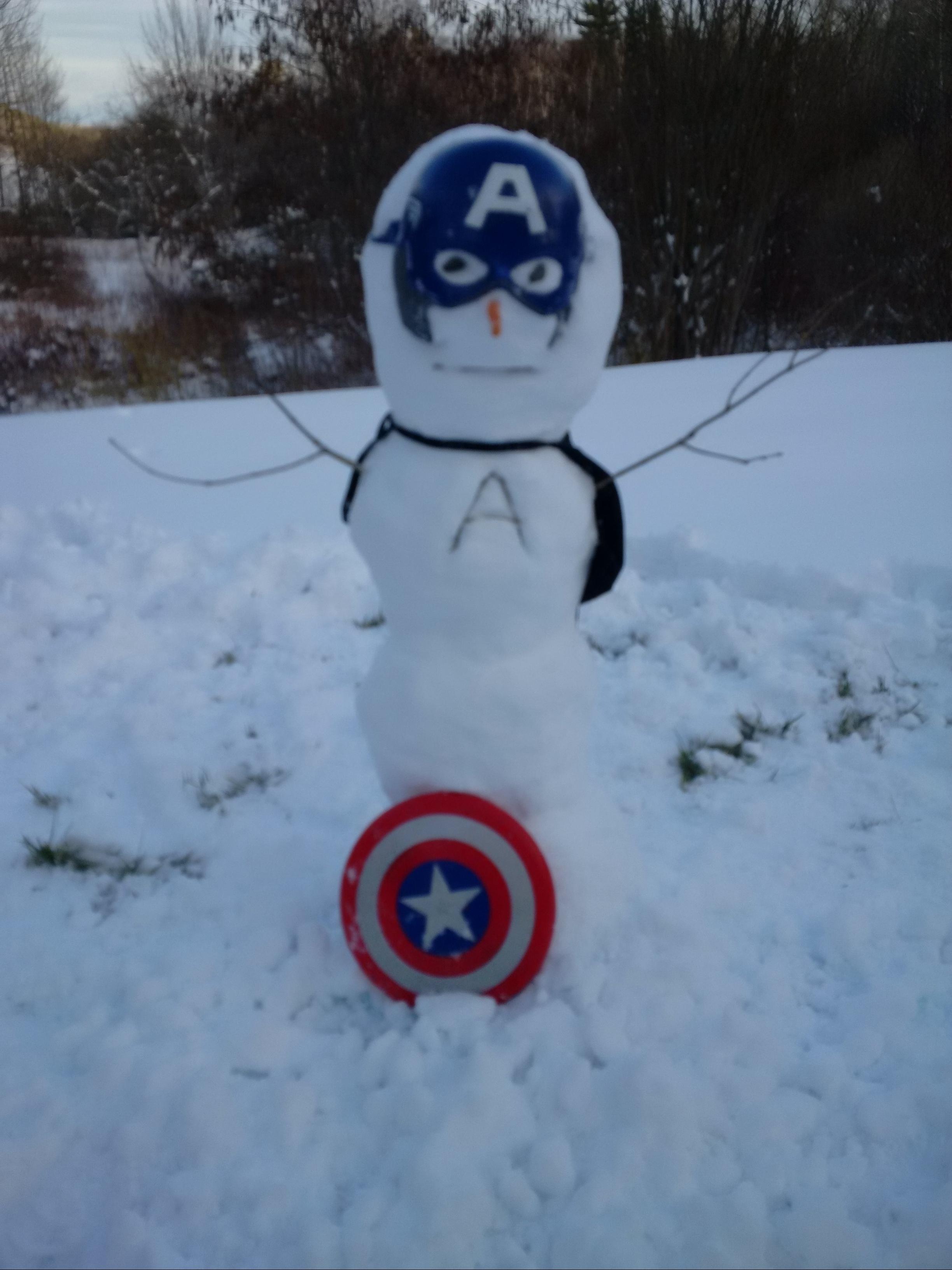 Cap America Snowman 03-21-2016