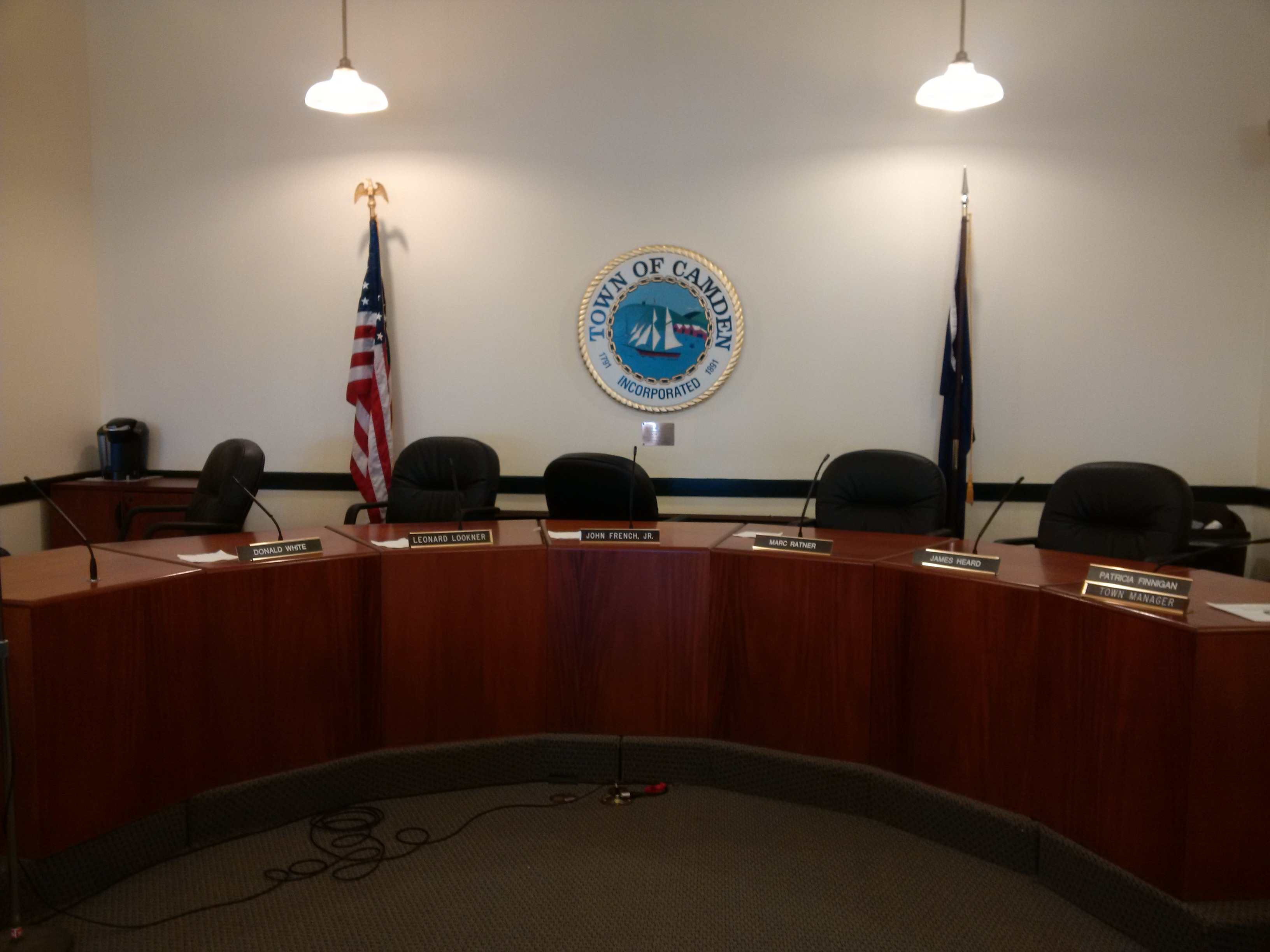 Home in maine select board room 06 27 2016 geenschuldenfo Choice Image